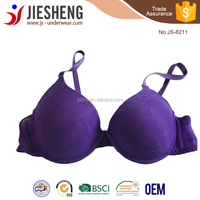 Free big size fancy underwear bra sample from China manufacturer JS6211