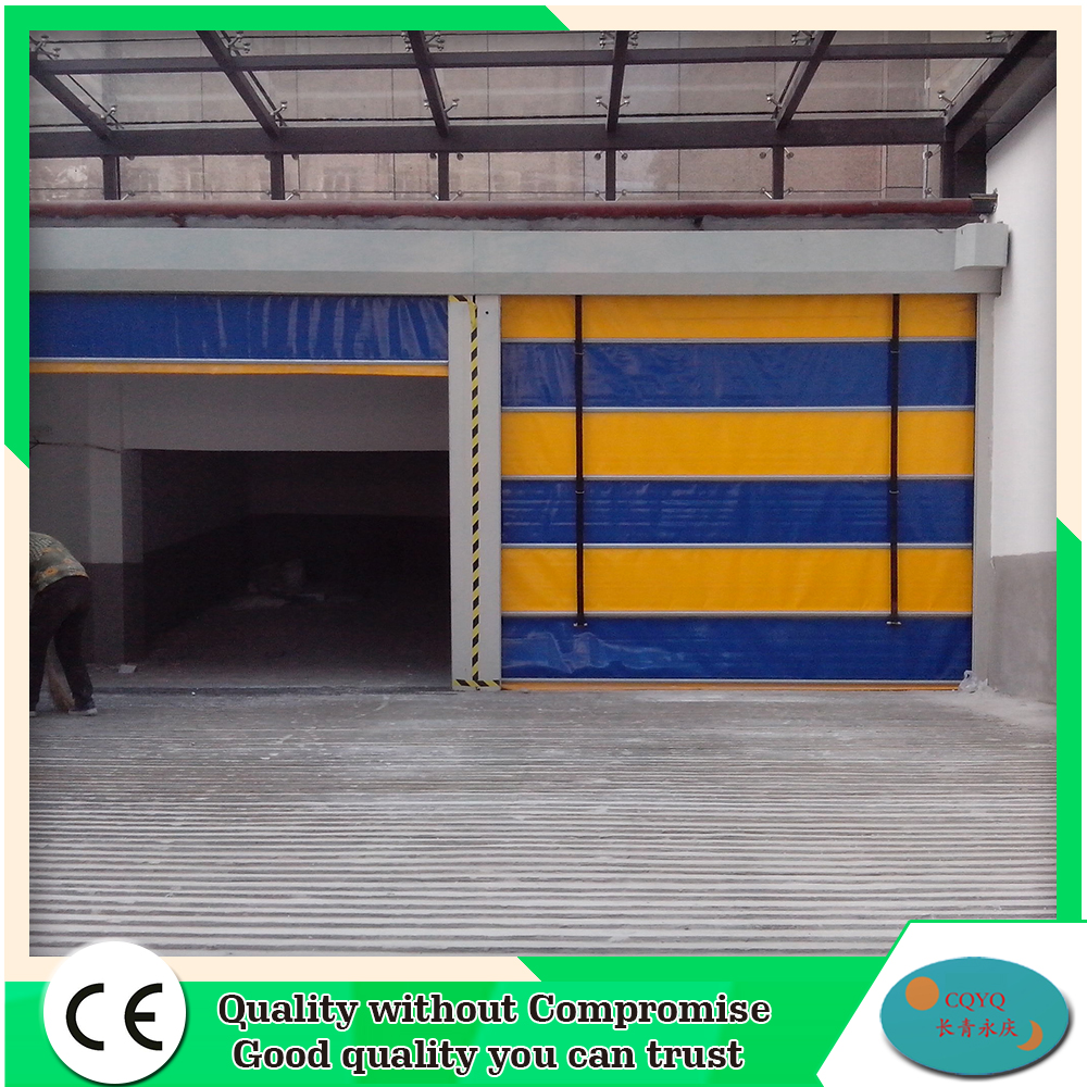 Alibaba china high density pvc industrial high speed stacking door