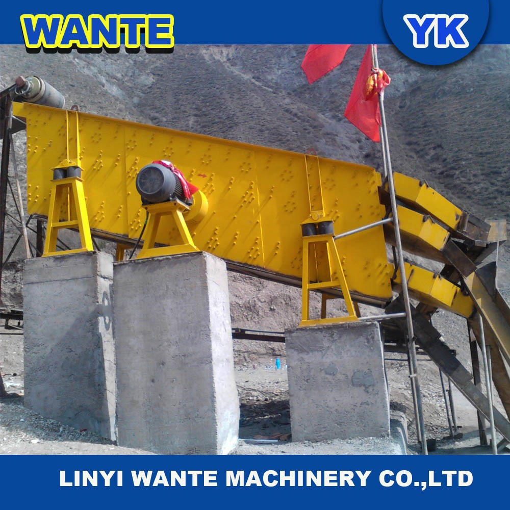 Sand Stone Aggregate Vibrating Screen / Big Capacity Vibrating Sieve