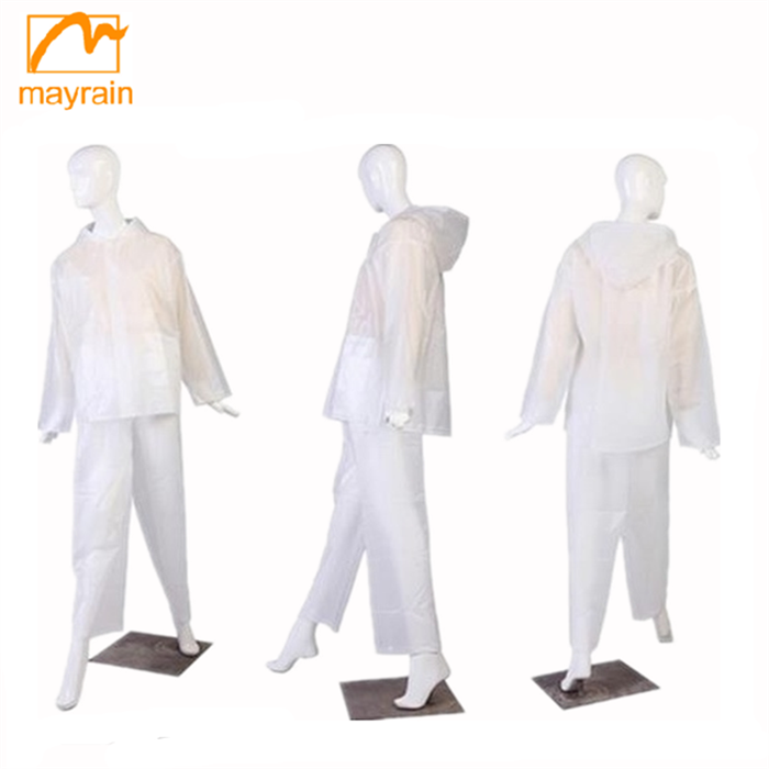 Advanced machine processed Promotion Clear Plastic Rain Suit