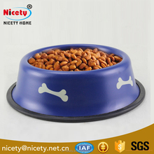Stainless steel travel slow feed dog food bowl