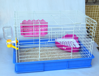 Durable high quality steel wire rabbit cage with large space for chinchilla cages