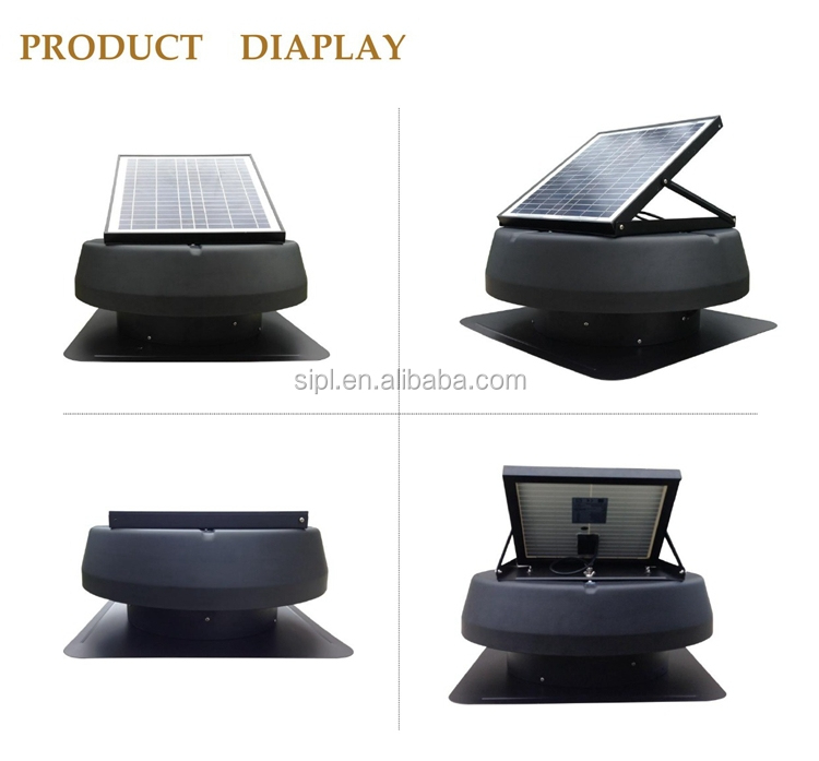 no energy cost ventilation fan solar attic exhaust fan 14