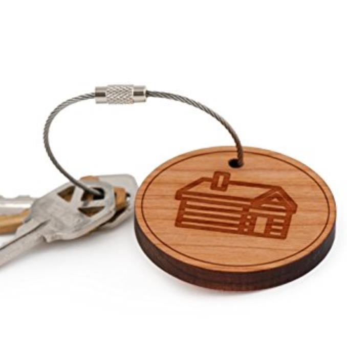 Wholesale Cheap Promotional Key Chain Keychain Mens & Womens Bamboo Restroom Keychain Tags