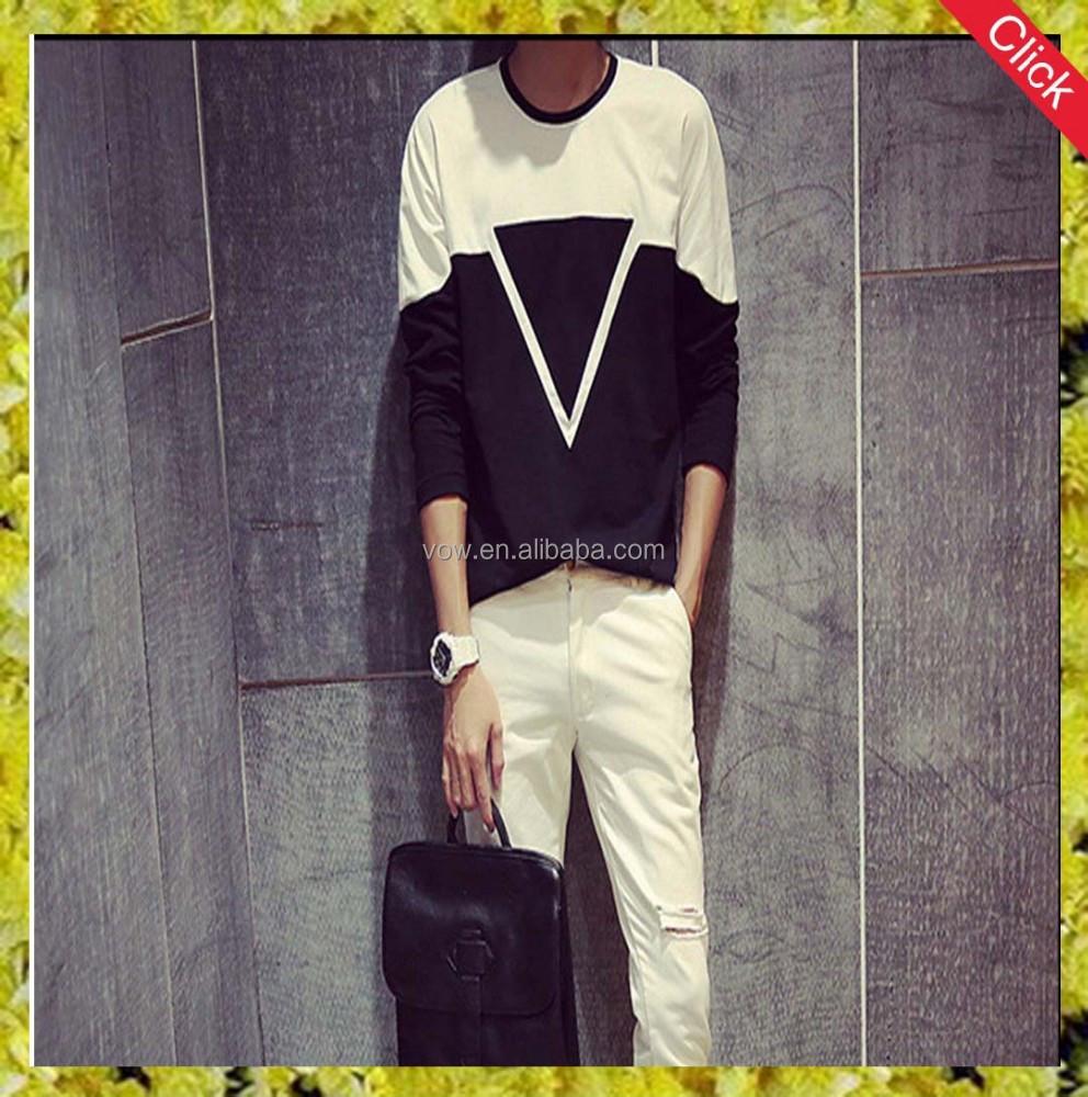 Hot Sell Latest Shirt Designs For Men Long Sleeve T