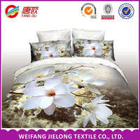 polyester microfiber fabricShandong province INDIA market Polyester 3D printed fabric /bedsheet /duvet cover from China supplier