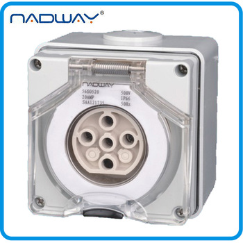 56SO520 IP66 5poles 20A/500V Industrial Waterproof Socket outlets