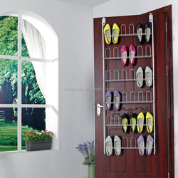 over the door shoe storage rack with metal wire for 40 pairs
