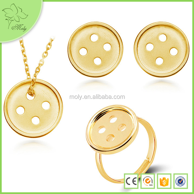 Hot Sale Gold DIY Snap Button Rings Designs for Boys Wholesale