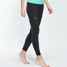 custom Women Running tights Sexy Mesh Yoga Pants With Great Stretch