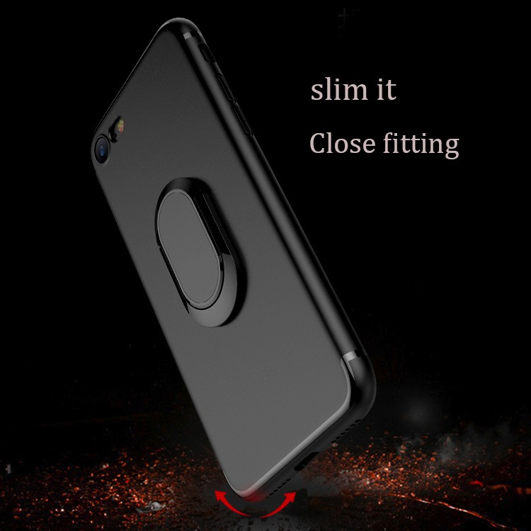 DFIFAN Best selling Magnetic Ring Holder Case Cover for iphone 7/ 8 ,Matte Phone Case for iphone 7 plus 8 plus