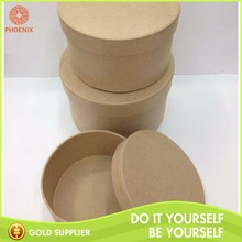 Small Round Fancy Brown Paper Kraft Candy Cardboard Cylinder Box