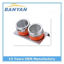 magnetic condiment set stainless steel spice jar with magnetic rack