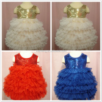 Wholesale Alibaba factory price fluffy latest designs kids party dress