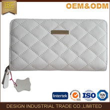 2017 China wholesale gift item promotional Sheepskin diamond quilt lined leather ladies wallet oem leather wallet women