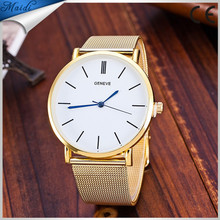 New Luxury Brand Top Quality Casual Geneva Quartz Watch Women Metal Mesh Stainless Steel Dress Watch Factory Price GW079
