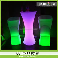 commercial nightclub party acrylic led light curve poseur bar table