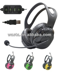 High quality USB headset with mic volume control