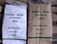 Tapioca Citric acid, NON GMO Citric acid from cassava, Citric acid Monohydrate/Citric acid Anhydrous Kosher