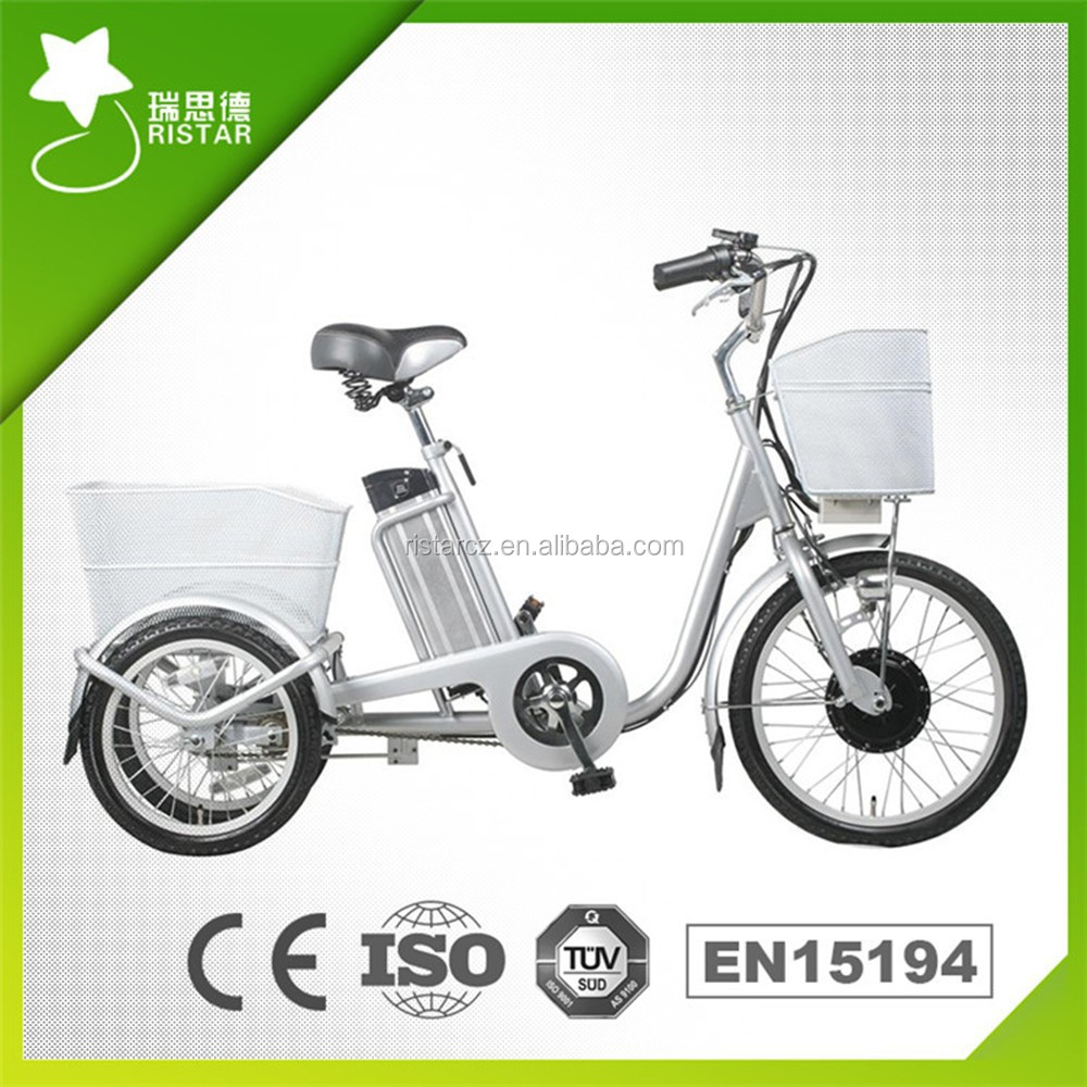 Chinese 250W 20/16inch 36V10Ah RSEB-704Z Electric Tricycle