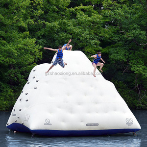 High Quality PVC Material Inflatable Floating Iceberg Island/Iceberg Climbing Wall For Hot Sale