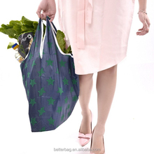 Folding Reusable Grocery Bags Waterproof Nylon holds Heavy Groceries Foldable Tote fits in Pocket