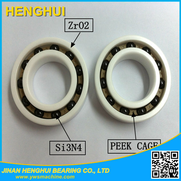large bore thin section deep groove ball bearings 6803-c3 Full ceramic bearing 6803