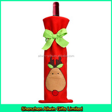 Christmas holiday decorative wine bottle cover gift bags