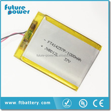 Rechargeable li-ion battery pack 3.7v 1000mAh for digital photo frame