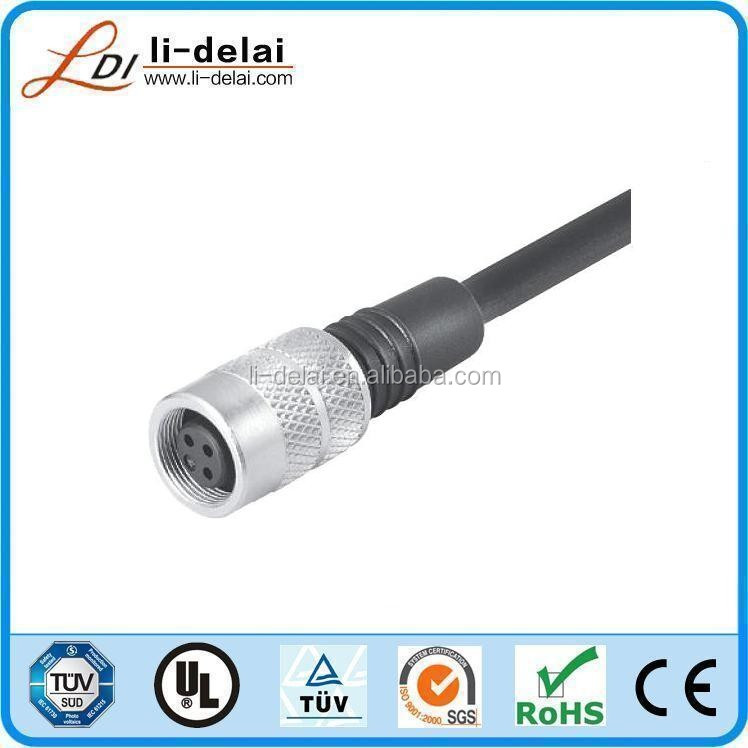 IP67 IP68 waterproof 2pin right angle straight angle male female M9 circular connector