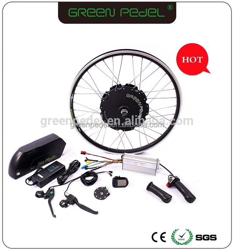Green Pedel 1000w motor electric bicycle front/rear wheel engine conversion kit