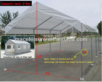 3MX6M Heavy Duty Waterproof big outdoor storage tent / party tent