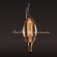 Edison Candle Flame Light Bulb C35 E14 25W 40W decorative filament Bulb