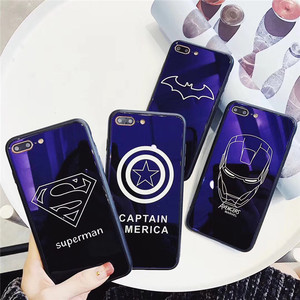 2018 hot selling hard acrylic shinning mirror superhero mobile phone case for iPhone 6s 7 8 Plus X