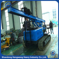 Hydraulic sheet injection ground screw pile machine