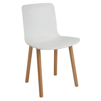 China classic solid beech wood plastic seat chairs hotel dining chair for sale