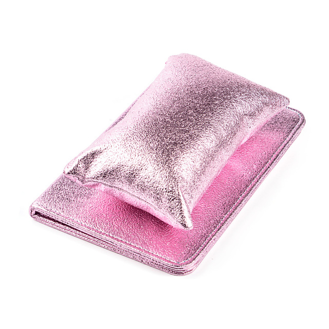 Solid Folding Nail Art Hand Rests Professional Washable PU Leather Tool Manicure Holder Wrist Soft Pillow With Cushion