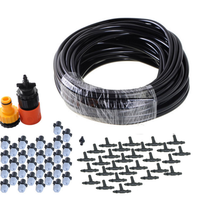 Best selling DIY 50FT 30 Nozzles Misting System Kit For Outdoor Swimming Pool Cooling Garden Greenhouse Irrigation