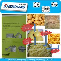 new design french fries making and frying or frozen Production line