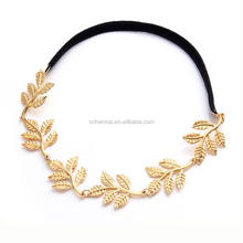 Fashion Tiara Noiva Metal Gold Chain Flower Leaf Hairband For Wedding Bridal Hair Accessory Women Forehead Jewelry
