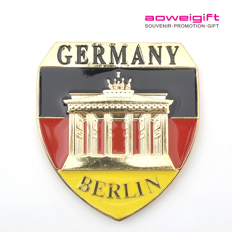 Germany Berlin Metal Shield Shape Tourism Souvenir Fridge Magnet