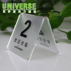 UNIVERSE eco-friendly A5 paper Inserted plastic clear acrylic sign holder