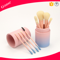 9PCS wholesales Cute Gradual Change Color Cosmetic Brush Makeup Brush Set with cosmetic holder