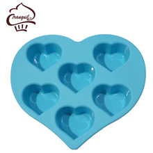 New Product 100% Food Silicone Heart Shaped Chocolate Mould
