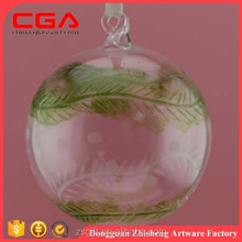 Factory produce wholesale fashionable hand-painted glass christmas ball for christmas ornaments