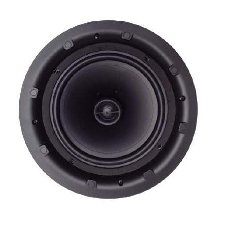 "2 way ceiling speaker with 1"" soft dome pivoting tweeter"