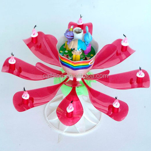 hot sales rotating musical firecracker birthday candle for party