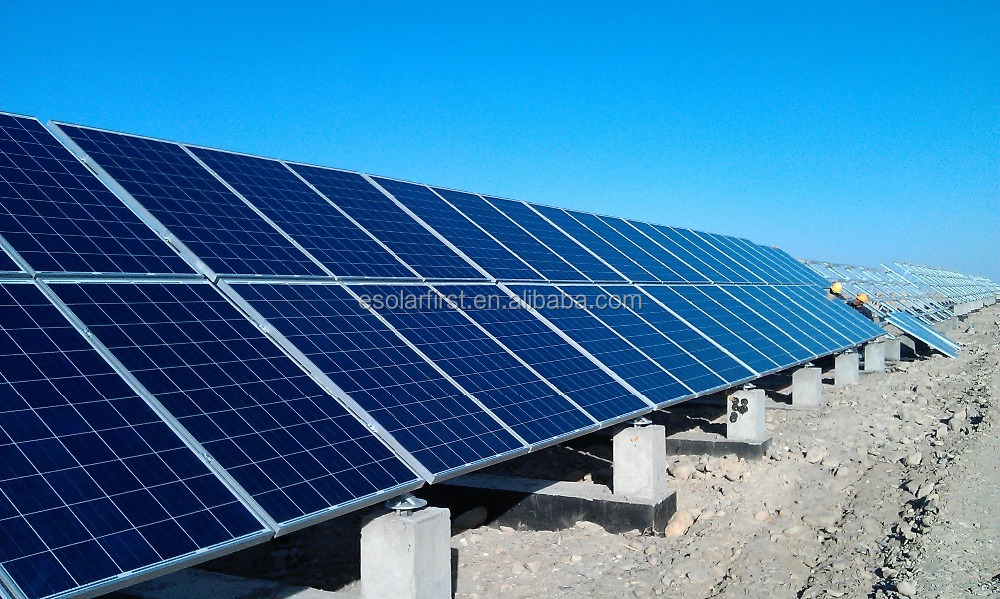 solar energy project ground mounting systems 1mw solar power plant