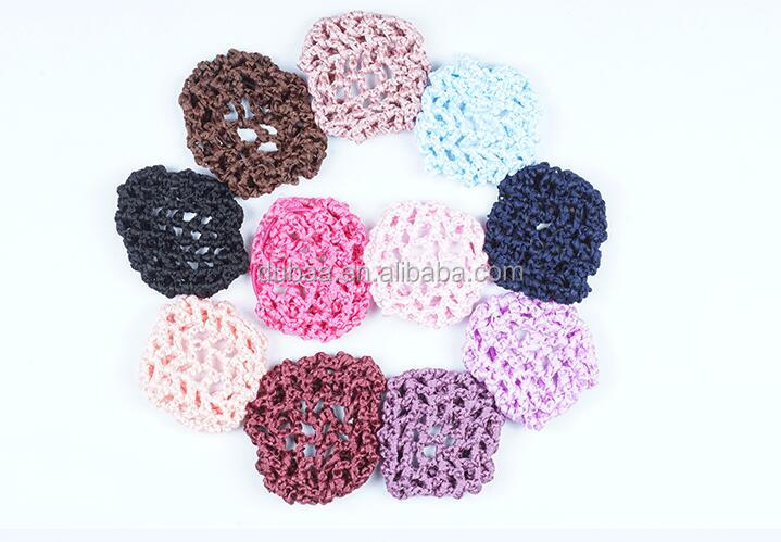 Good Nylon Elastic Thick Cord Mesh Hair Net Snood Crocheted Hair Net Women Ballet Dance Skating Snoods Hair Net Bun Cover
