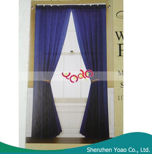 China Oem Coloured Voile Curtain Ready Made
